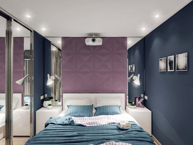 15 идей дизайна спальни на 7 кв. м без окна