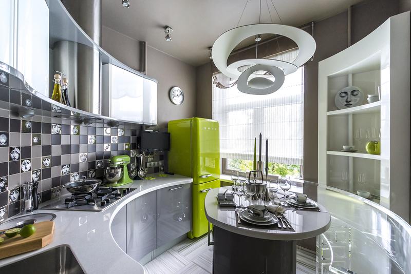 Круглые и радиусные кухни —вдохновляющая подборка фото
