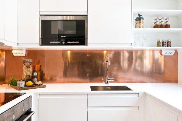 Кухонный фартук из металла