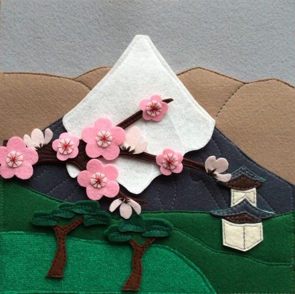 Декоративное панно из фетра