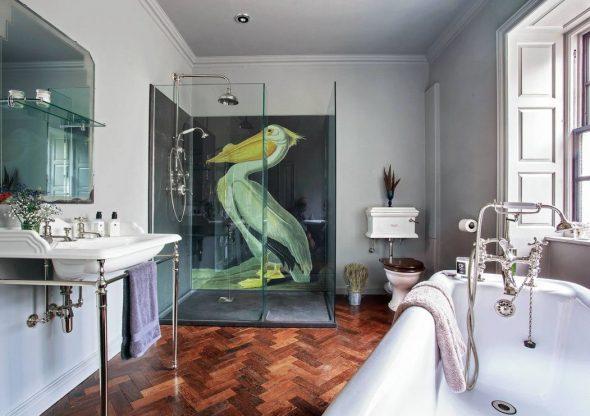 Эклектика в интерьере ванной