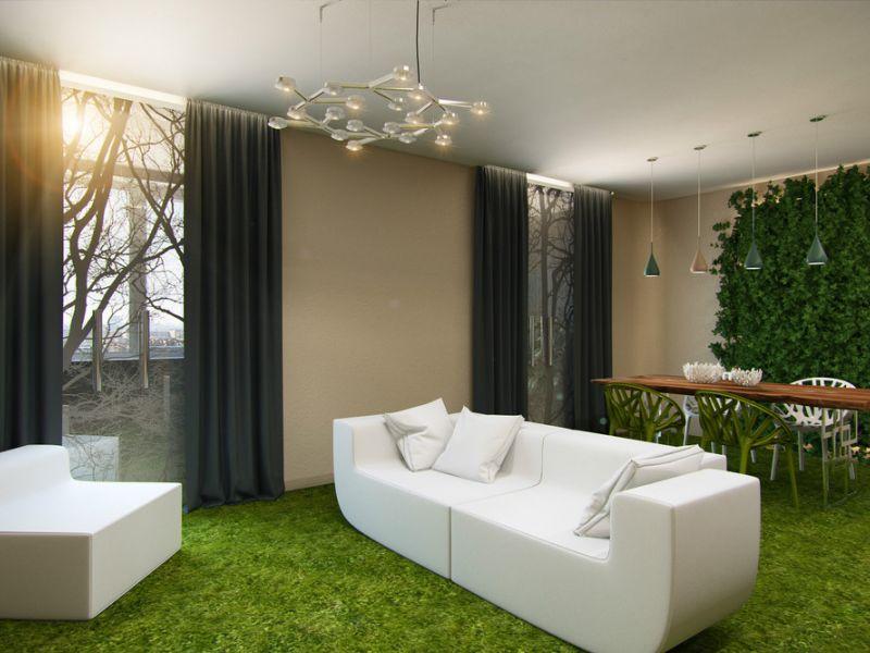 Трава в интерьере квартиры: идеи для вдохновения