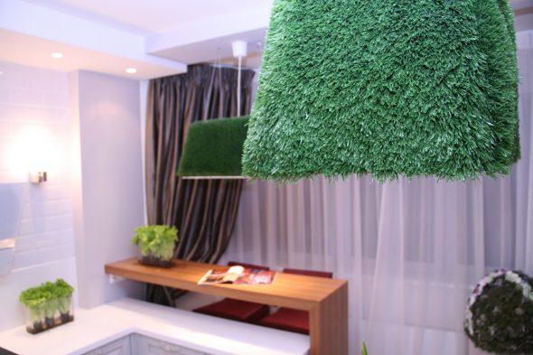 трава в интерьере квартиры