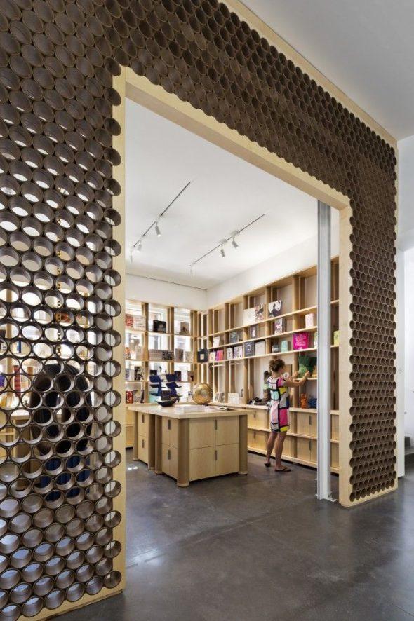Декор из картонных трубок