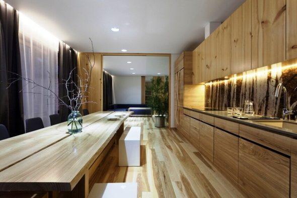 Экостиль интерьера кухни