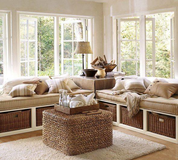 Мебель из ротанга в эко-интерьере