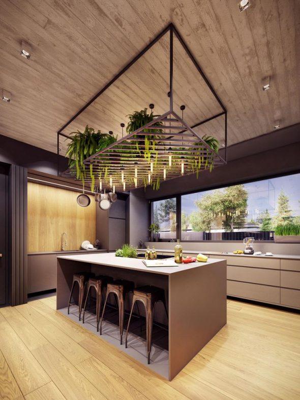 Кухня в стиле эко-лофт