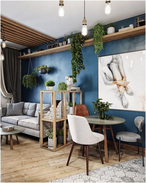 Дизайн квартиры в экостиле