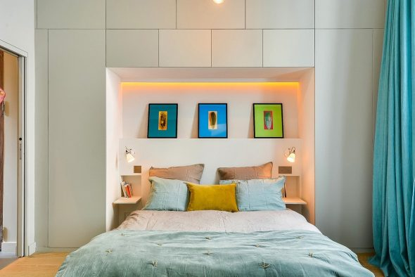 места хранения в спальне