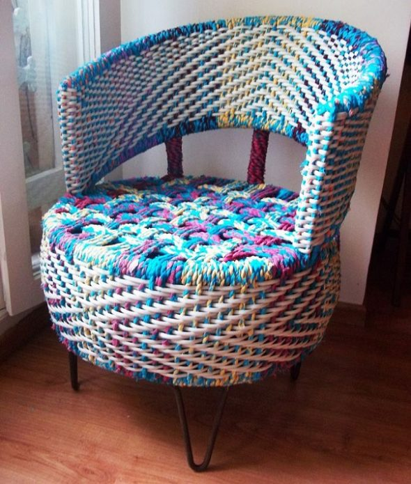 Кресло из покрышки