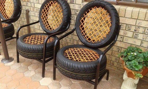 Кресла из покрышек