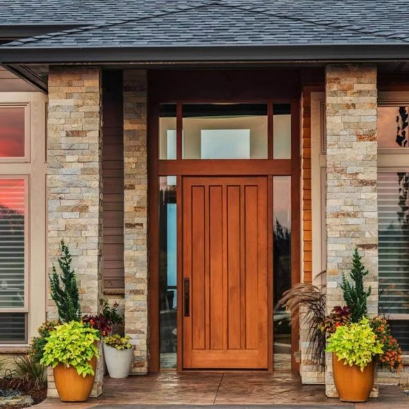 Одностворчатые деревянные двери