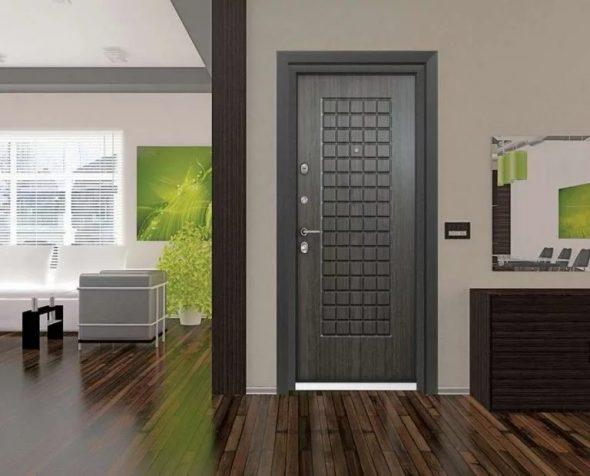 Входная дверь в интерьере дома