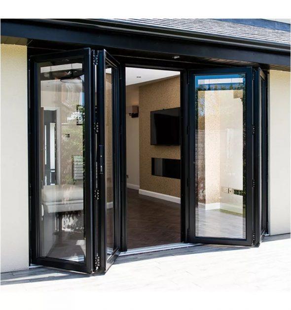 Двойные алюминиевые входные двери