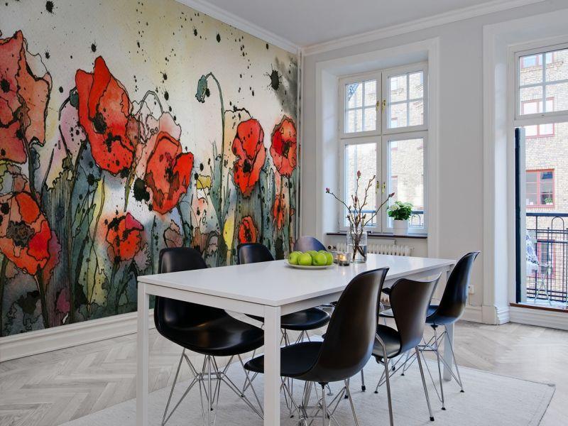 Рисунки на стене в кухне: идеи оформления на фото