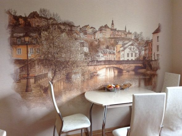 рисунки на стене в кухне