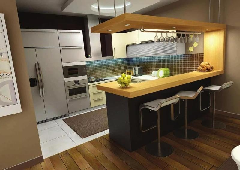 Барная стойка на кухне: практично или бесполезно?