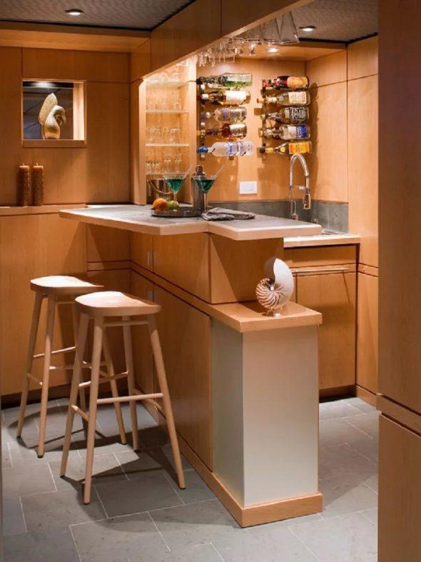 Дизайн кухни для мини бара