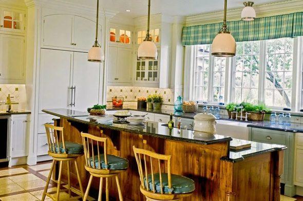 Дизайнерская барная стойка на кухне