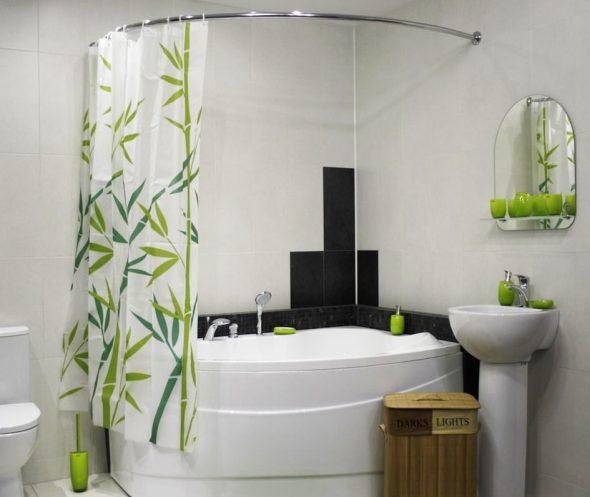 занавеска в ванной