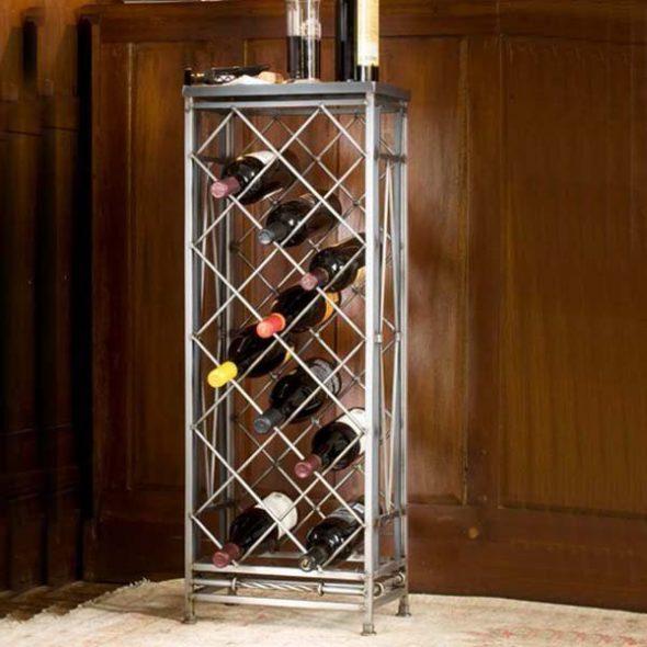 Бутылочница в интерьере кухни