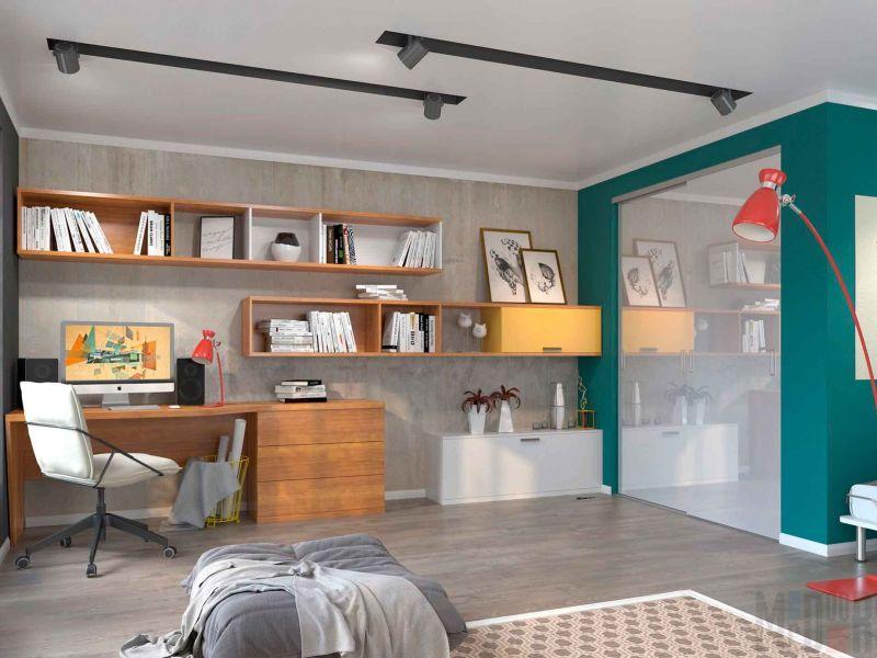 Система хранения в комнате мальчика-подростка