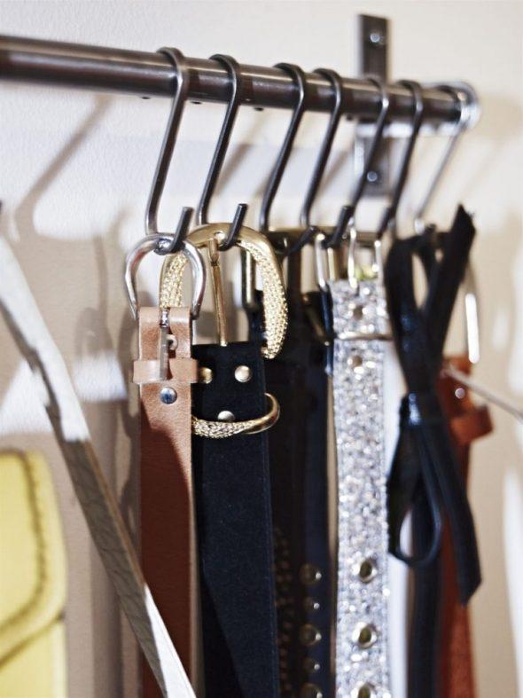 как хранить ремни и пояса в шкафу