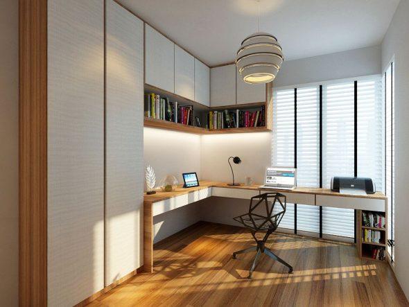 Шкафы и полки в домашнем офисе