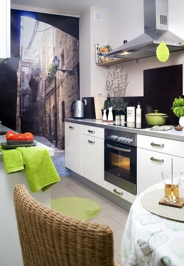 Маленькая кухня без окна
