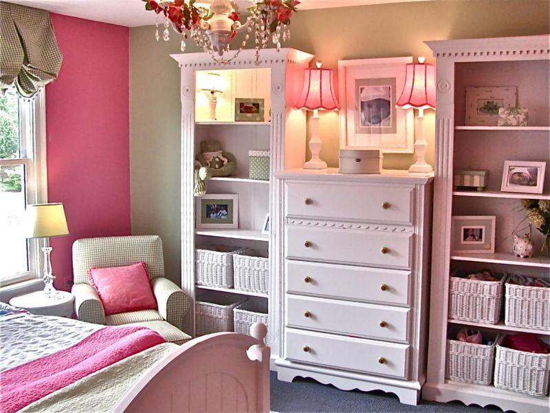 Оригинальные идеи организации системы хранения в комнате девочки-подростка