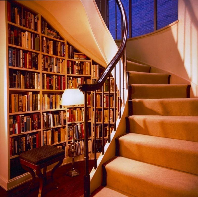 11 отличных идей использования пространства под лестницей
